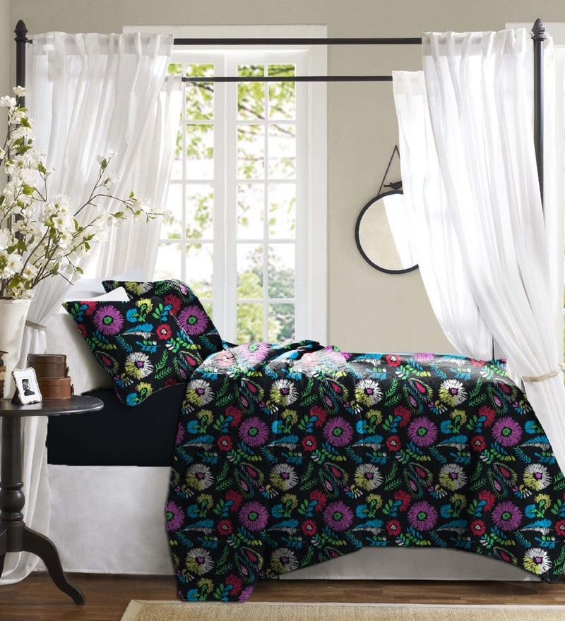 Haus and Sie Black Cotton Bed in a Bag Bedding Set