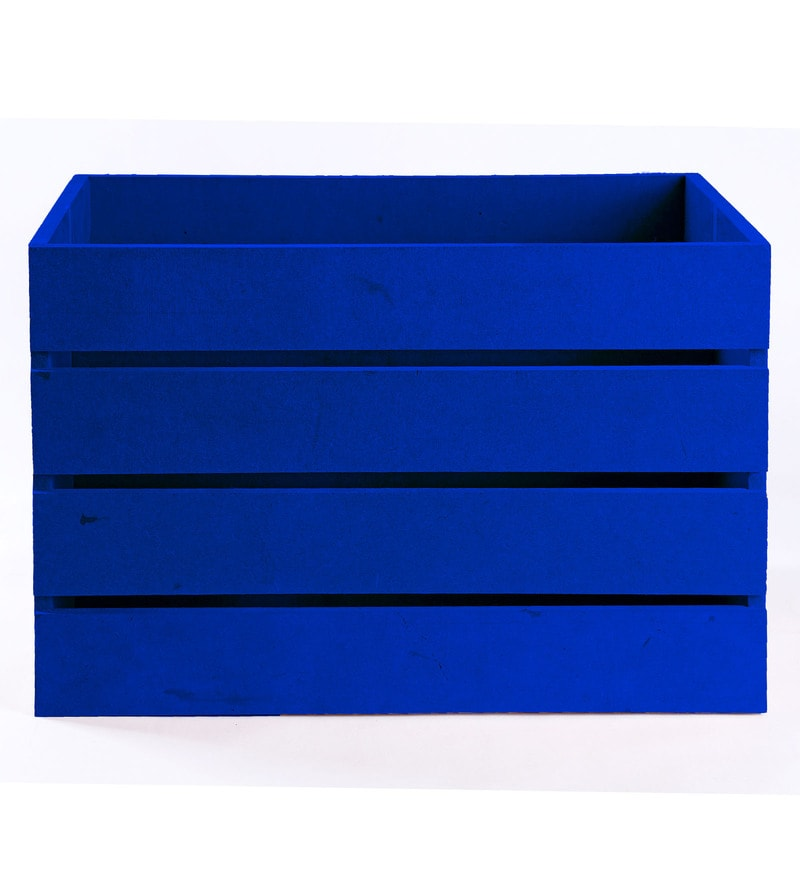 Haus and Sie MDF Blue Crate
