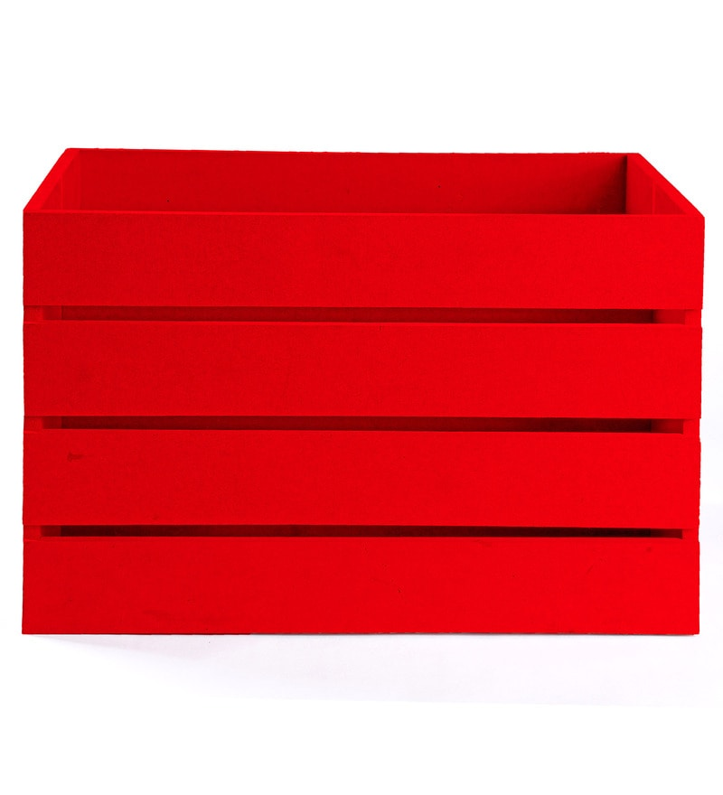 Haus and Sie MDF Bright Red Crate