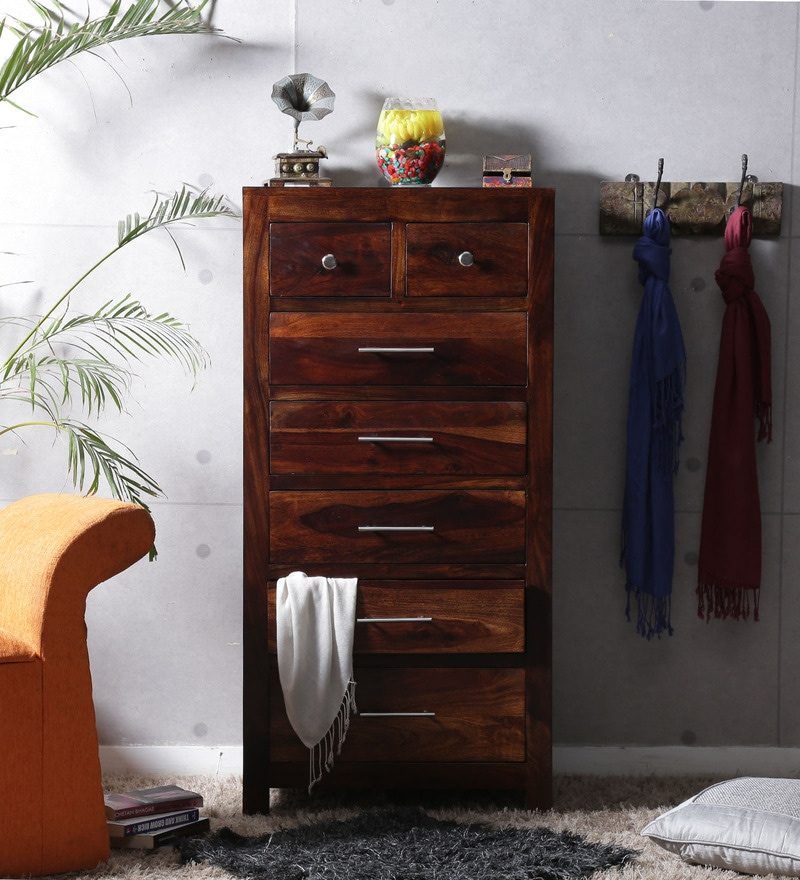 Edmonds Tall Chest of Seven Drawers in Provincial Teak Finish by Woodsworth