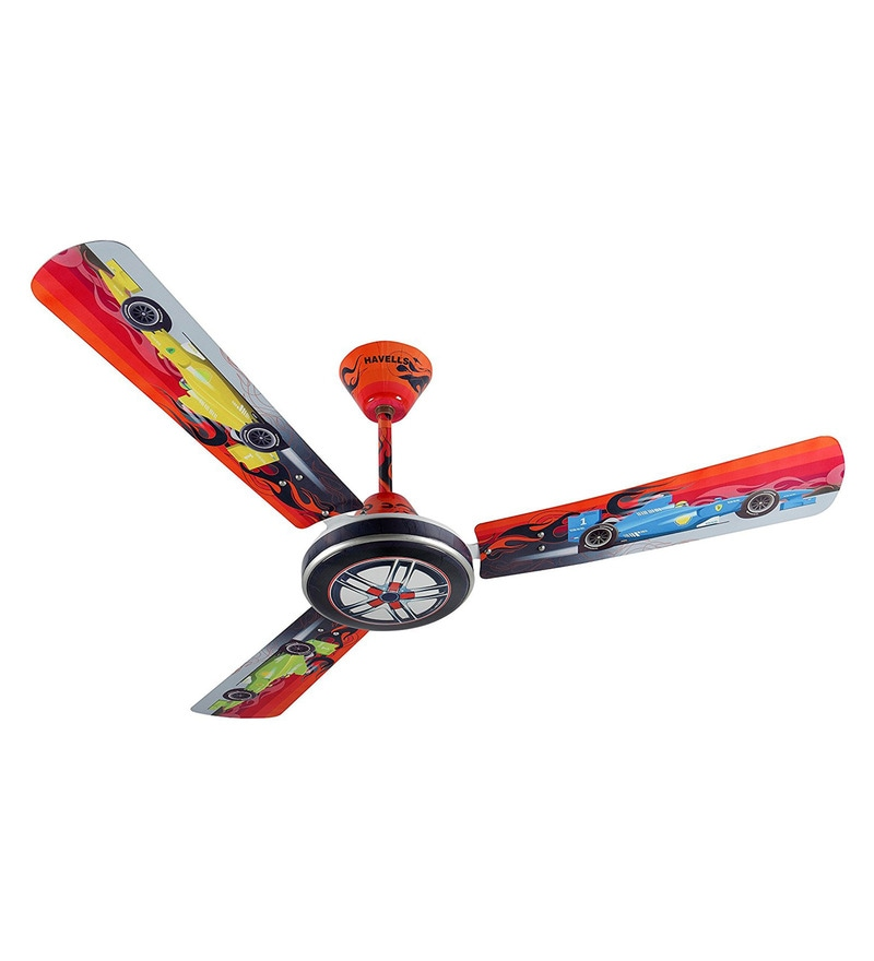 Buy luminous play 1200mm yellow car ceiling fan online kids fans havells moto race 1200 mm multicolour ceiling fan mozeypictures Image collections