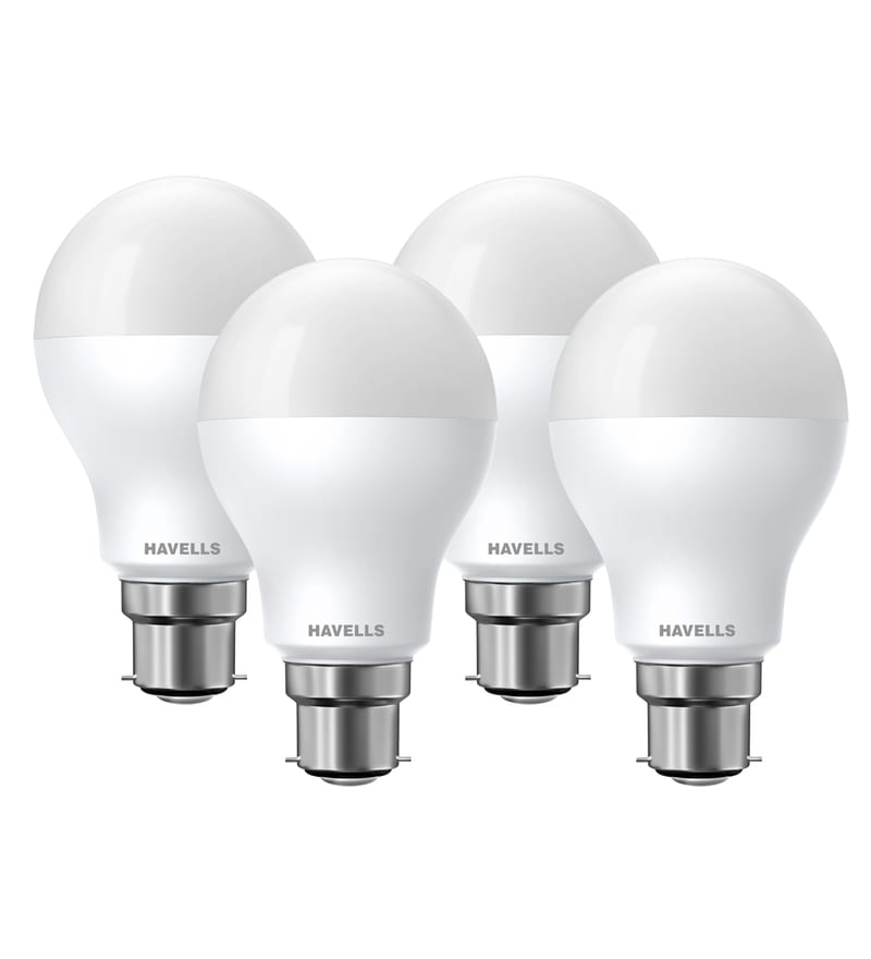 Havells New Adore White 5-Watt LED CDL Ball Lamp - Set of 4