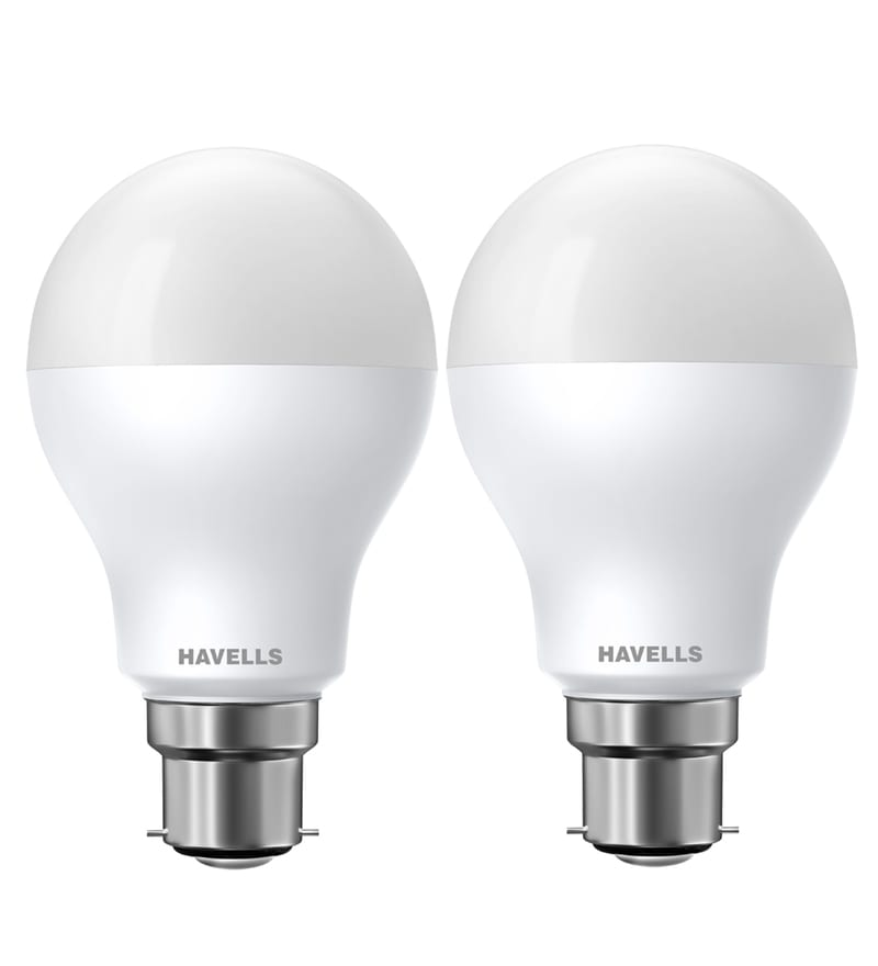 Havells New Adore White 7-Watt LED CDL Ball Lamp - Set of 2