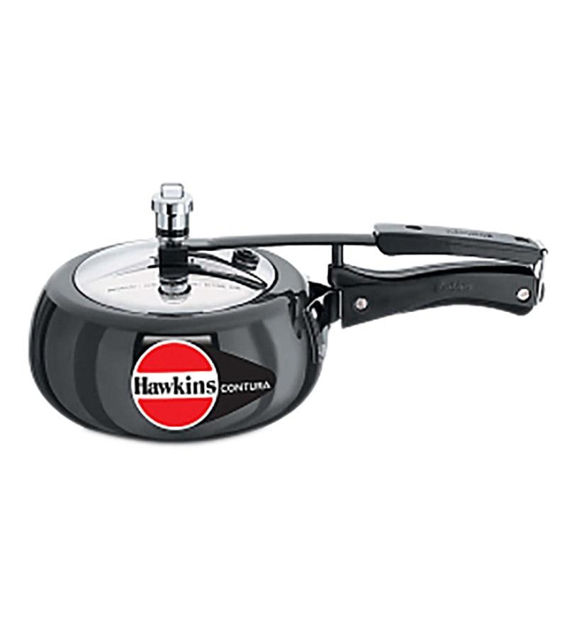 Hawkins Contura Black Aluminium 2 L Pressure Cooker