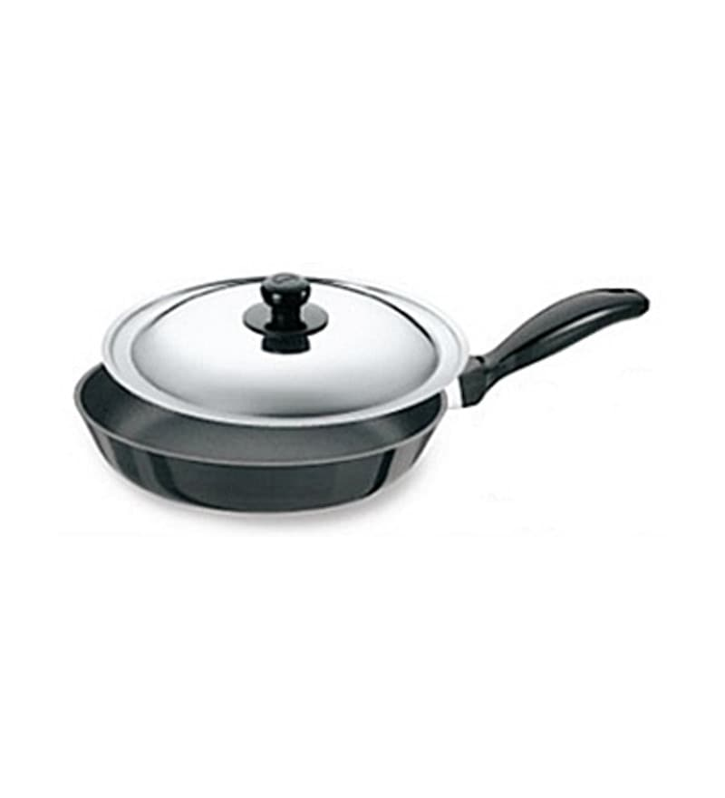 Futura Hard Anodized Non Stick Frying Pan with Steel Lid by Hawkins