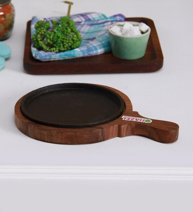 Hazel Iron & Wood Sizzling Brownie Sizzler Plate
