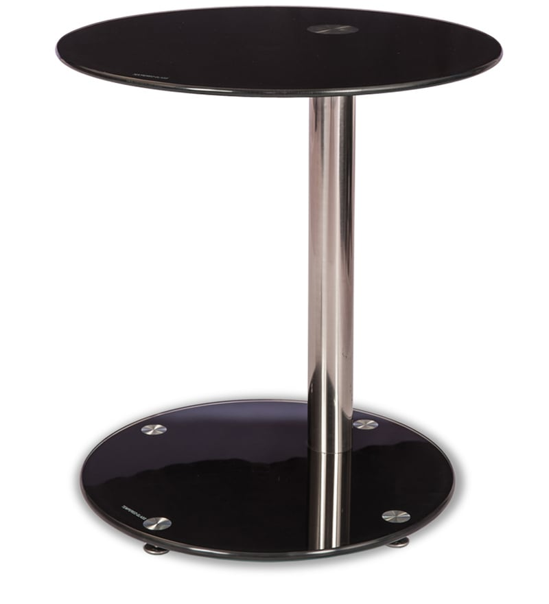Hazel Side Table In Black Colour By Durian