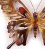 Copper Iron Contemporary Butterfly Wall Decor by Malik Design