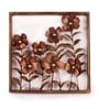 Copper Iron Floral Framed Wall Decor by Malik Design