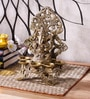 Bronze Brass Panchdeep Ganesha Carving Stand Durable & Sturdy Statue by Handecor