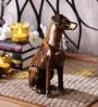 Handecor Golden Brass Vintage Dog Showpiece