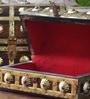 Hanumant Brown Solid Wood Vintage Sandook - Set of 2