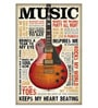 Wooden 8 x 10 Inch Music Framed Digital Print by Hashtag Decor