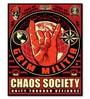 Wooden 8 x 10 Inch Chaos Society Framed Digital Print by Hashtag Decor
