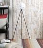 Cocoon White Aluminum Floor Lamp by Ekko