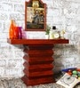 Greendale Console Table in Honey Oak Finish with Woodsworth