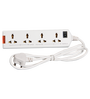 Havells 4 Way 6 Ampere White Extension Socket