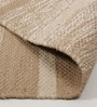 Beige & Brown Cotton 92 x 64 Inch Hand Woven Flat Weave Area Rug by HDP