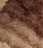 Beige & Brown Polyester 49 x 69 Inch Shaggy Carpet by HDP