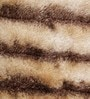 Beige & Brown Polyester 69 x 49 Inch Carpet by HDP