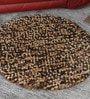 HDP Beige & Brown Wool 36 Inch Hand Woven Pebble Round Carpet