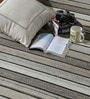 HDP Beige & Brown Wool 80 x 56 Inch Hand Woven Flat Weave Area Rug