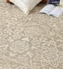 Beige & Ivory Wool 80 x 56 Inch Indian Hand Made Knotted Carpet by HDP