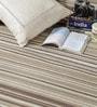 HDP Beige Wool 80 x 56 Inch Hand Woven Flat Weave Area Rug