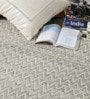 Beige Wool 80 x 56 Inch Hand Woven Flat Weave Area Rug by HDP