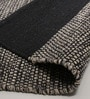 Black & Grey Cotton 92 x 64 Inch Hand Woven Flat Weave Area Rug by HDP