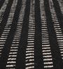 HDP Black & White Wool & Cotton 55 x 79 Inch Kelim Carpet
