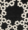 Black & White Wool 32 Inch Hand Carved Tufted Round Carpet by HDP