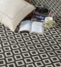 Black & White Wool 80 x 56 Inch Hand Woven Flat Weave Area Rug by HDP