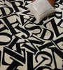 Black & White Wool 80 x 56 Inch Indian Hand Tufted Carpet by HDP