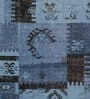 Blue Wool 80 x 56 Inch Indian Hand Made Knotted Carpet by HDP