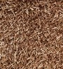 Brown Polyester 47 x 67 Inch Carpet by HDP