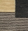 Grey & Beige Wool 80 x 56 Inch Hand Woven Loom Knotted Carpet by HDP