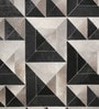 Grey & Black Leather 80 x 56 Inch Hand Made Carpet by HDP