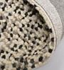 HDP Grey & Black Wool 66 x 28 Inch Hand Woven Pebble Carpet