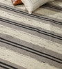 HDP Grey & Ivory Wool 80 x 56 Inch Hand Made Kilim Carpet