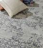 Grey & Silver Viscose 92 x 64 Inch Hand Made Indo Nepal Tibetan Carpet by HDP