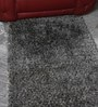 Grey & White Wool & Polyester 59 x 36 Inch Hand Tufted Pebble Carpet by HDP