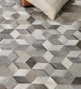 Grey Leather 96 x 66 Inch Hand Made Carpet by HDP