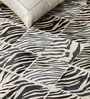 Ivory and Black Leather 80 x 56 Inch Hand Made Carpet by HDP