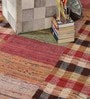 Multicolour Cotton 80 x 56 Inch Hand Woven Patchwork Carpet by HDP