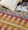 Multicolour Wool 80 x 56 Inch Hand Woven Loom Knotted Carpet by HDP