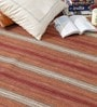 Rust Wool 80 x 56 Inch Hand Woven Loom Knotted Carpet by HDP
