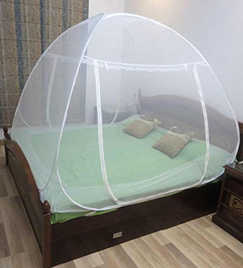 Healthgenie Double Bed White Polyester Mosquito Net