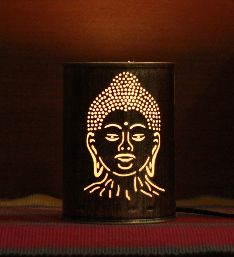 Gold Iron Budha Night Light by Height of Designs