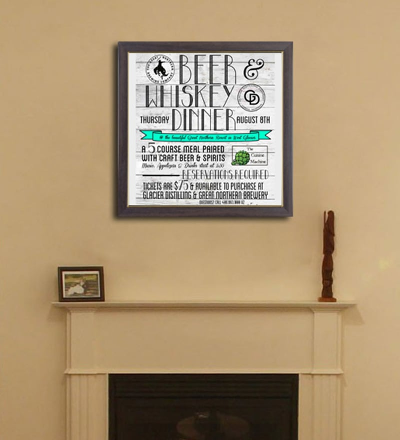 PVC 12 x 12 Inch West Glacier Framed Wall Painting by Height of Designs